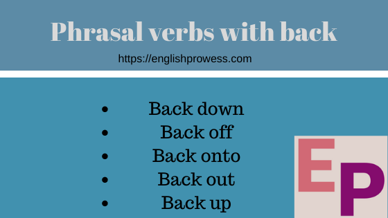 phrasal verbs with back list